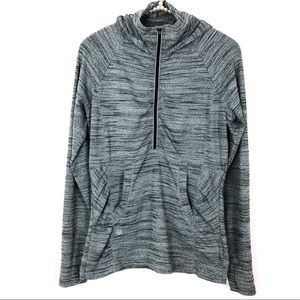 ATHLETA Heather Gray Heavenly Hail Pullover Jacket